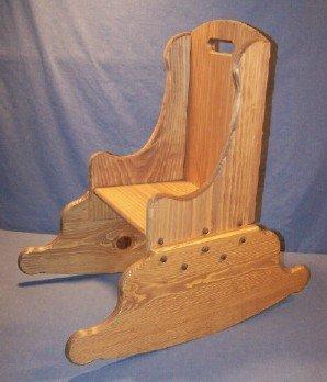 Children's Wooden Play Furniture - Rocking Chair - 9-1/2