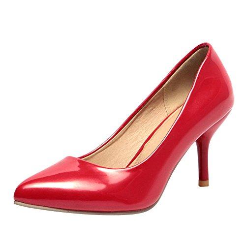 MissSaSa Donna Scarpe col Tacco Gattino Dolce e Elegante (34, rosso)