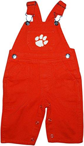 Clemson University Tigers Newborn Baby Infant Toddler Overalls Orange 3 - 6 Months