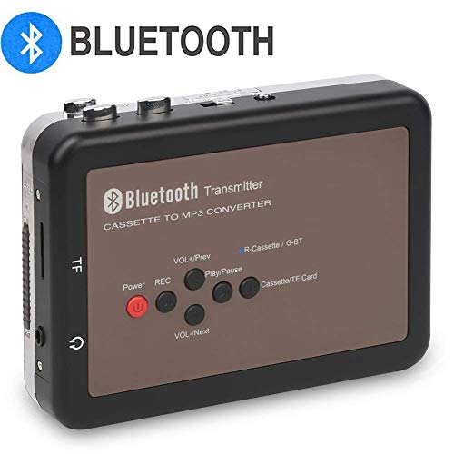 DIGITNOW Bluetooth Walkman Cassette Player Personal Cassette Tape Digital Recorder, Cassette Tape to Mp3 Converter, No PC Required (Player Tape Bluetooth)