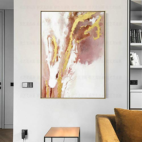 l Paintings,Landscape Style, Simple Modern Abstract Pink Clouds, Painting On Canvas Art, Large Size Home Decor Wall Art, For Bedroom Living Room Bedside Restaurant Painting Without ()