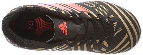 adidas Unisex-Kinder NEMEZIZ Messi Tango 17.4 in Fußballschuhe Schwarz (Core Black/Solar Red/Tactile Gold Metallic)