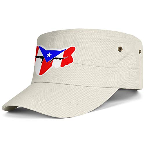 Unisex Fashion Military Cap Fox-Racing-Logo-Sticker- Snapbacks Truker Hats