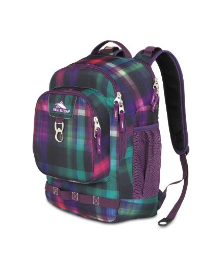 High Sierra 2074 Cubic-Inches Brewster Daypack (Whimsy Plaid ), Outdoor Stuffs