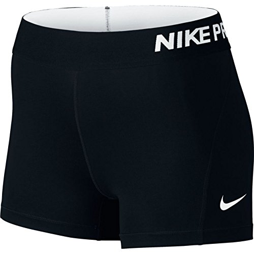 Nike Women's Pro Cool 3-Inch Training Shorts (Black/White/Small)