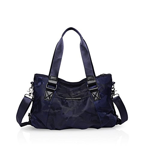 de Nylon Bolso Crossbody Totalizador Ligero Azul de Mano de Negro Capacidad Viaje Camuflaje Mujer Hombro NICOLE Gran Impermeable de Bolsa Cartera amp;DORIS Bolsa Bolsos RPEzzOx