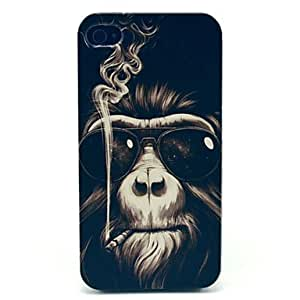SOL ships in 48 hours Smoking Monkey Pattern Hard Case for iPhone 4/4S