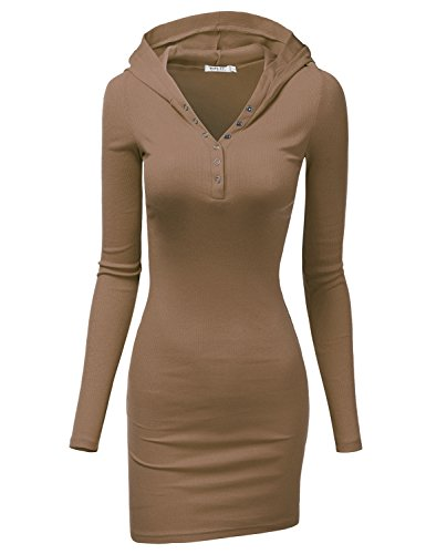 Doublju Womens Lightweight Button V-Neck Dress (Next Day Delivery Fancy Dress)
