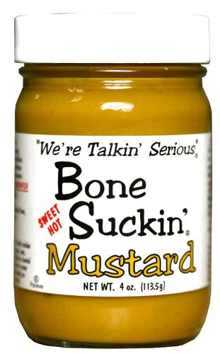 Bone Suckin' Mustard ~ Sweet, Hot ~ 3 pack of 4 ounce bottles from Ford's Gourmet Foods