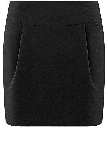 Ultra Noir Courte 2900n Poches Femme Jupe oodji xAdXUZZ