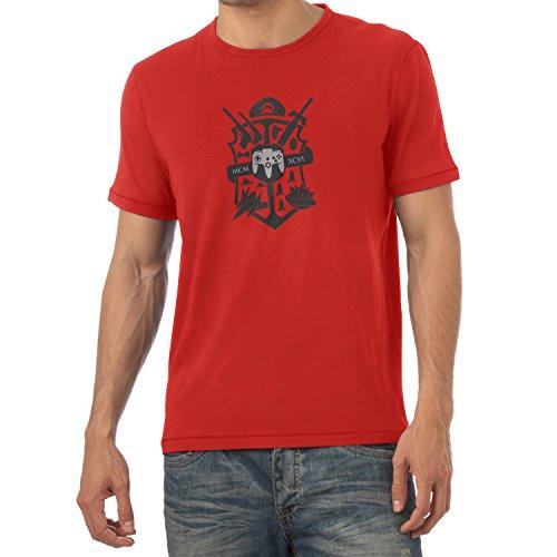 TEXLAB - Big Gaming Logo - Herren T-Shirt, Größe XXL, rot