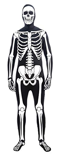 (Forum Novelties Men's Skeleton Man Bone Skin Suit Extra Large Adult Costume, Multicolor,)