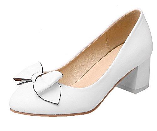 Colore Tacco Ballerine Bianco Luccichio Assortito Tonda Tirare Donna Medio Punta VogueZone009 q107x7