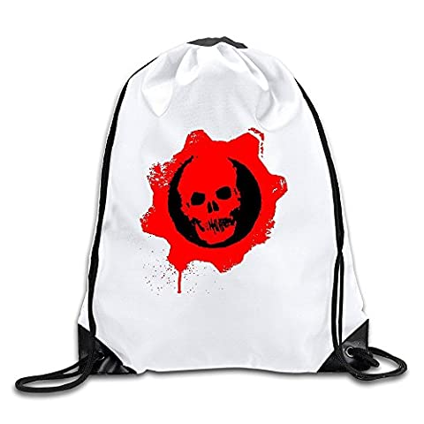 Custom Crazy Cool Gears Of War Epic Games The Coalition Drawstring Hiking Backpack Drawstring Backpack Travel (Gears Of War Mission)