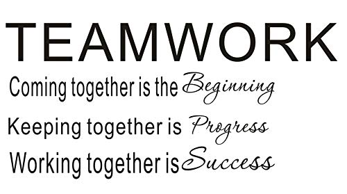 LUCKKYY Large Teamwork Motivation Inspirationa Creativity Office Wall Art Decals Quotes for Office Wall Office Family Office Inspirational Wall Decals Wall Sticker(Large-Teamwork) (Sayings Decor Wall Inspirational)