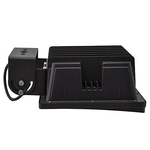 LEDwholesalers Series-4 Heavy Duty Flood Light Fixture with Trunnion 5000K,