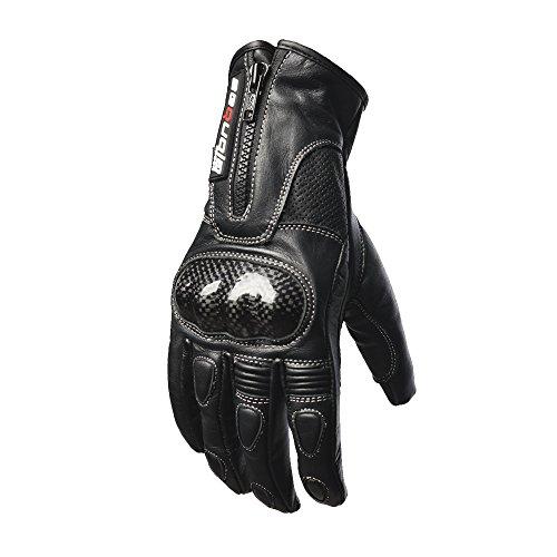 Sequoia Speed HERO Men's Motorcycle Protective Gloves Bike Racing Full Finger Wiper Riding Black New Outdoor Leather Motorbike Mesh Motocross - 2XLARGE - 3 Months Warranty