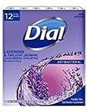 Dial Lavender And Twilight Jasmine Bar Soap, 12 Bars Total (4 Ounces Each)