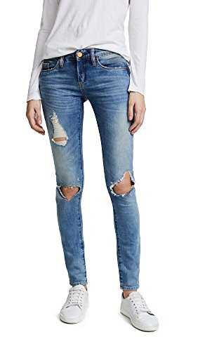 [BLANKNYC] Blank Denim Women's Distressed Skinny Jeans, Good Vibes, Blue, 27