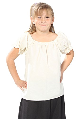 Alexanders Costumes Girls Peasant Blouse, Natural, Small]()