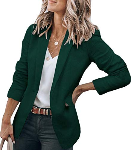 Cicy Bell Womens Casual Blazers Open Front Long Sleeve Work Office Jackets Blazer