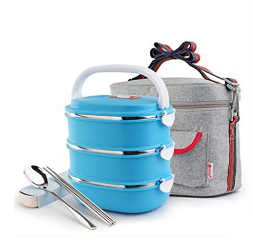 Modalee 1-3 Layers 304 Stainless Steel Lunch Boxs With Compartments Microwave Bento Box For Kids School Picnic Food Container