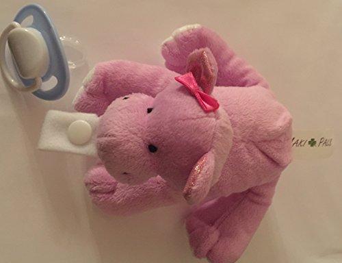 (Maki Pals Pink Hippopotamus Plush Toy Pacifier Holder)