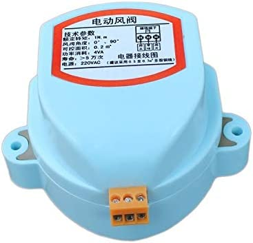 Voltage: AC 220V Fincos 4 inch Plastic air Damper Valve HVAC Electric air Duct Motorized Damper for Ventilation Pipe Valve 220V 12V 24V 110mm