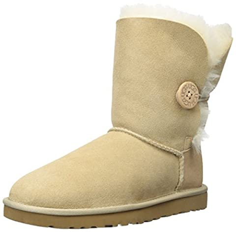 UGG Australia Bailey Button Ladies Boots - Sand Size 6 - Faux Ugg Boots