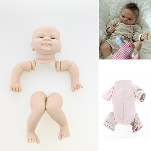 Vinyl Reborn Kit - LILITH Unpainted Soft Vinyl&Silicone Great to Reborn Doll Newborn Baby Dolls Kit Set Including Head, Legs, Arms and Cloth Body Slip