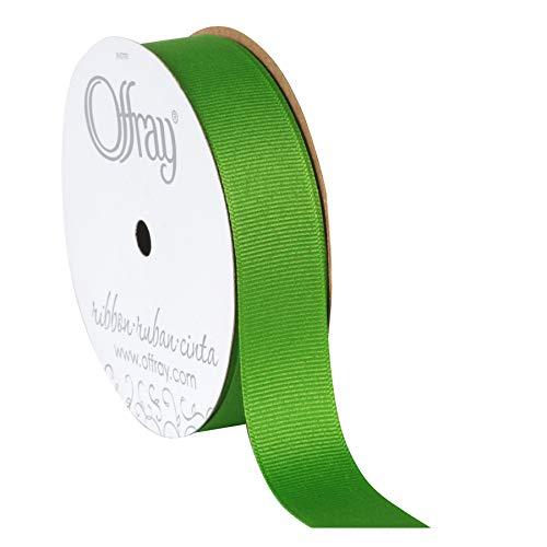 - Berwick Offray 530801 Grosgrain Ribbon, Apple Green