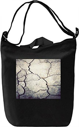 Broken Wall Pattern Borsa Giornaliera Canvas Canvas Day Bag| 100% Premium Cotton Canvas| DTG Printing|