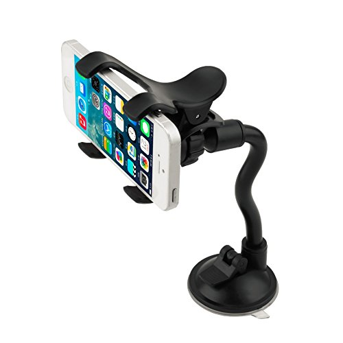 Car Mount, LIANSING Long Arm Universal Car Mount Holder With 360 Degree Rotation Suction Cup for Apple iPhone 6 PLUS/6/5s/5c, Samsung Galaxy S6/S5/S4 and Other Android Phones