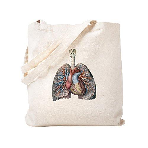 CafePress - Human Anatomy Heart And Lungs - Natural Canvas Tote Bag, Cloth Shopping Bag