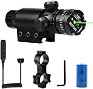 Tactical Laser Sight, FOME SPORTS OUTDOORS Adjusted Rifle Scope Sight with 2 Mounts Tactical Laser Beam Dot Gr