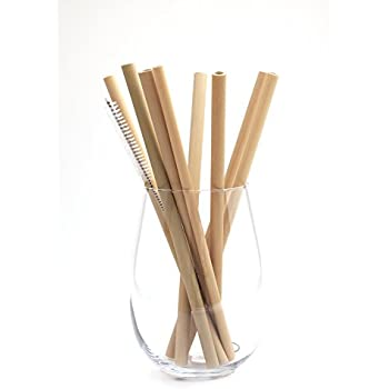 "BULUH STRAWS - 8"" ORGANIC BAMBOO DRINKING STRAWS 