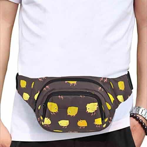 Sliced Kiwi Fruit Hand Drawn Fenny Packs Waist Bags Adjustable Belt Waterproof Nylon Travel Running Sport Vacation Party For Men Women Boys Girls Kids