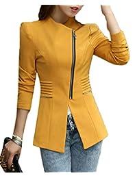 maweisong Women's Side Zipper Lightweight Suit Blazer Slim Fit Jackets
