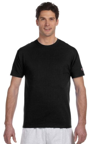 Champion Mens Basic Tee Shirt T425_Black_S