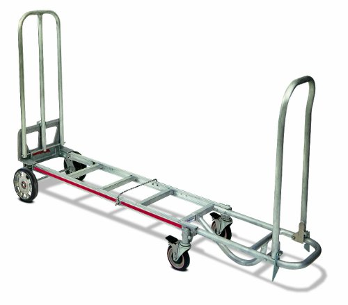 Magline-STK8AA1-Aluminum-4-Wheel-Foldable-Hand-Truck-Loop-Handle-Mold-On-Rubber-Wheels-200-lbs-Capacity-73-Height-17-Width-x-16-Depth