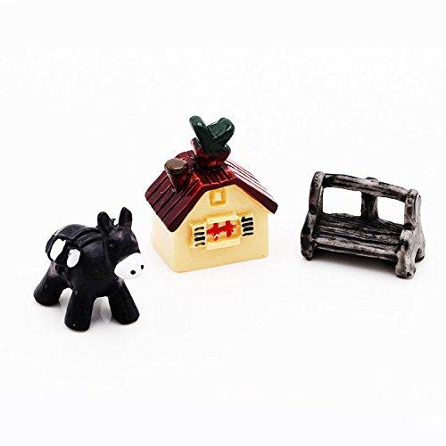 [KPShop Garden Ornament Miniature House Flower Figurine Craft Plant Pot Fairy Decor
