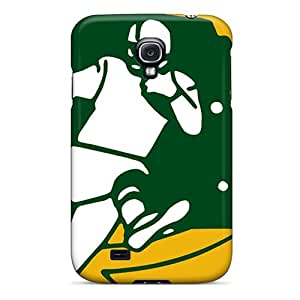 High Quality Cell-phone Hard Covers For Samsung Galaxy S4 (vvZ1205fWEL) Custom Vivid Green Bay Packers Series