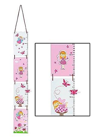 kids fairy height chart for girls bedroom or baby nursery
