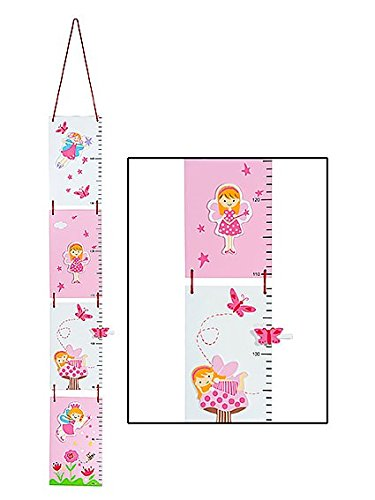 Pink Children's Fairy Height Chart Growth Measure for Girls Nursery or Bedroom Mousehouse Gifts MH-100438