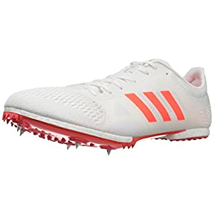 adidas Originals Adizero MD Track Shoe, White/Infrared/Metallic/Silver, 9.5 M US