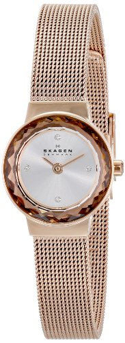 (Skagen Women's SKW2187 Leonora Stainless Steel Rose Gold-Tone Watch)