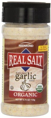 Real Salt Natural Garlic Salt, 4.75-Ounce (Pack of 6) by REDMOND