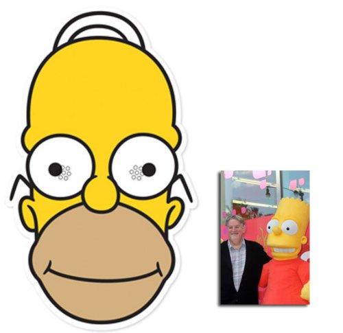 Halloween Costume The Simpsons Parody Homer Simpson Full Head Lycra Mask
