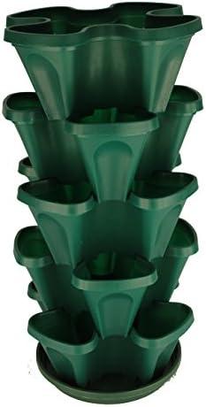 YP Supplier LLC DBA Mr.Stacky 13 inch 5 Layer herb Vertical Gardening Planters Green