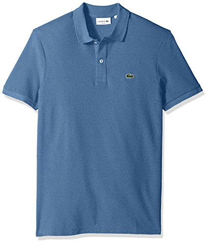 Lacoste Men's Classic Pique Slim Fit Short Sleeve Polo Shirt, PH4012-51, Neptune Blue Chine, Large (Polo Pique Lacoste Mens)